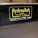Hydraulink Painted Acrylic 3d letters